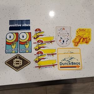 Dutch Bros stickers. New. Lot of 11.